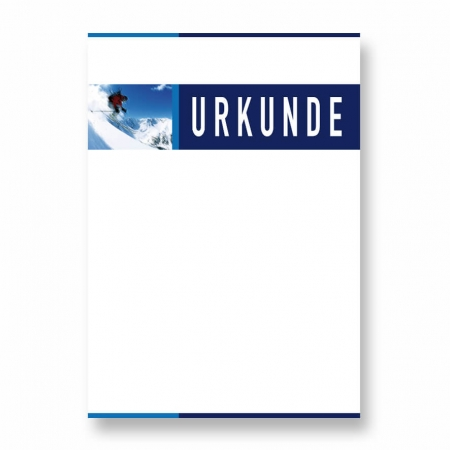 Wintersport Urkunde